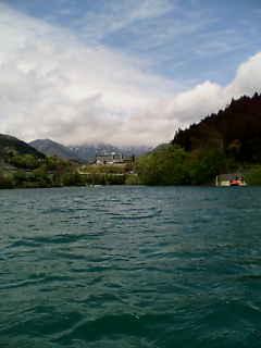 赤谷湖の上から撮影